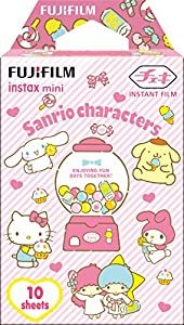 FUJIFILM Instant Camera instax mini Film 10 sheet multiple characters 2018 (Sanrio) Polaroid film