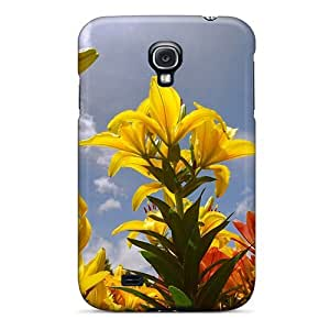 For Galaxy S4 Tpu Phone Case Cover(lily Flowers)