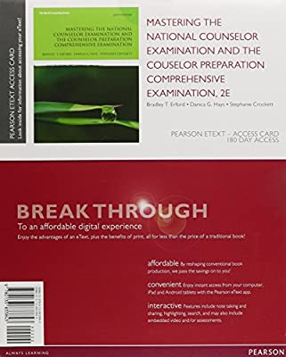 Mastering the National Counselor Exam and the Counselor Preparation Comprehensive Exam, Enhanced Pearson eText -- Access Card (2nd Edition)