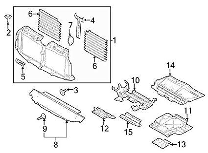 Amazon Com Ford Oem Radiator Support Splash Shield Fl3z5d032a Image