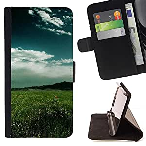 Momo Phone Case / Flip Funda de Cuero Case Cover - Naturaleza Hermosa Forrest Verde 19 - HTC One M7
