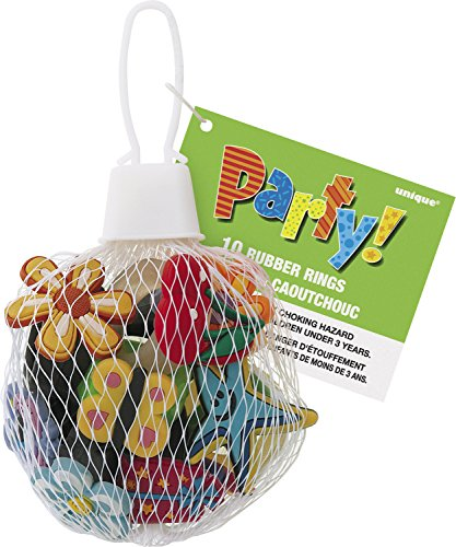 Die Cut Rubber Ring Party Favors, Assorted 10ct