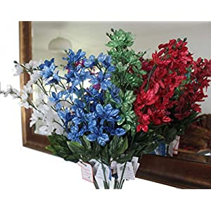 """Set of 2 31"""" Sparkling Christmas Long Stem with Artificial 3"""" Poinsettia Flowers 33"""