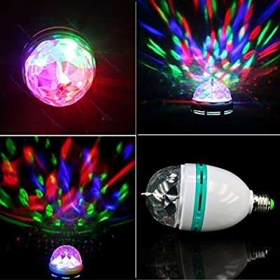 Universal Usage E27 3W Colorful Auto Rotating RGB LED Bulb Stage Light Multi Color Changing Bulb Party Lamp Disco