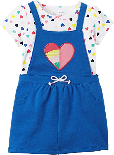 Carter's Baby Girls' 2 Piece Heart Print Bodysuit and Heart Jumper Set 18 Months