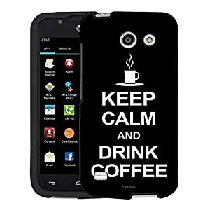 AT&T Fusion 3 Case, Snap On Cover by Trek KEEP CALM and Drink Coffee on Black Case