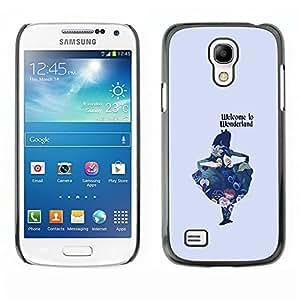 Eason tienda/duro Slim snap-on carcasa–azul niños Fairytale–For Samsung Galaxy S4Mini i9190
