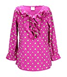 S.W.A.K. Girls hearts allover Print Long Sleeve Fashion Top Size 14/16- Fuchsia