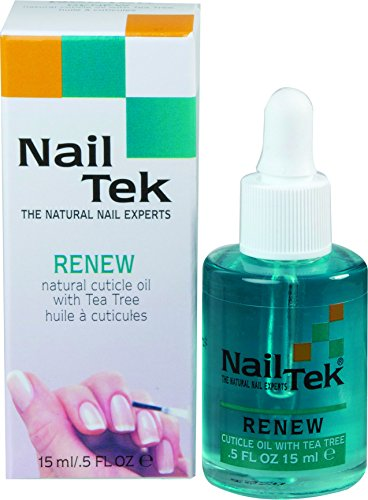 Nailtek Renew Natural Cuticle Oil with Tea Tree, 0.5 Fluid Ounce