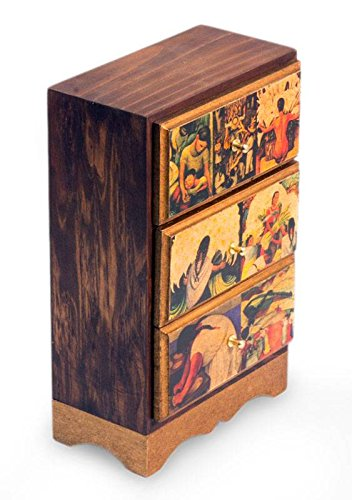 "NOVICA""""Diego Rivera's Mexico Decoupage Jewelry Chest, Multicolor"