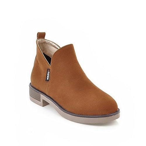 AdeeSu Zapatos Cerrados Para Mujer, Amarillo (Amarillo), 35.5