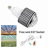 E27 100W Full spectrum COB led grow light,Pin heat Sink,90 degre lens,AC85~265V, Sunshine white, Emits Both UVA and UVB Same spectrum as the Cree CXB3590 at lower cost