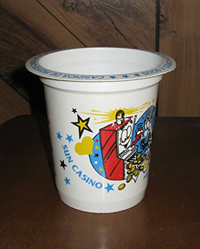(Casinos De Monte-Carlo French Riviera-Plastic Slot Machine Coin Cup/Buckets)