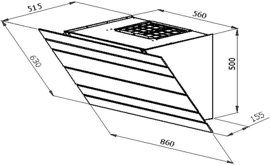 Galvamet/Levante 90/F BK/ 90 cm/ Plasma/Campana extractora sin cabeza con tecnología de plasma (90 cm), color negro: Amazon.es: Grandes electrodomésticos