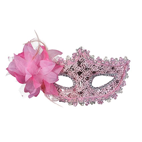 Rehot Masquerade Party Masks Womens Masks Venetian Ball Prom Mardi Gras Halloween Masks (Pink (Most Random Halloween Costumes)