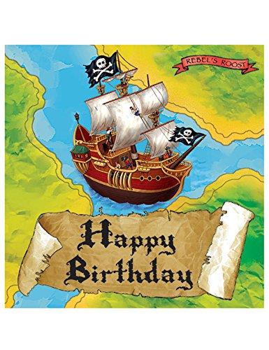 (Pirate-Theme Birthday Party Luncheon Napkins )