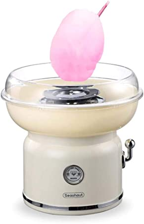 Maquina de Algodón de Azúcar Eléctrica, 500W Retro Cotton Candy Machine para Fiestas Cumpleaños, 24x37cm, De plástico: Amazon.es: Hogar
