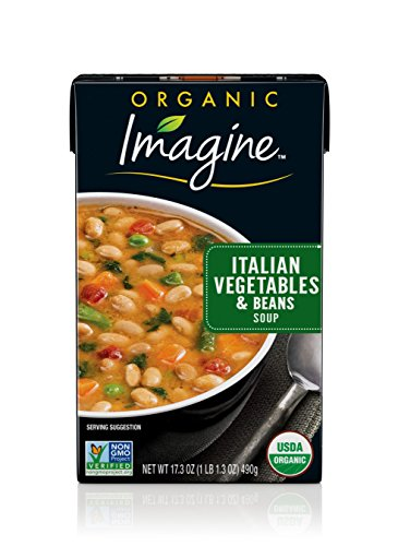 Imagine Organic Soup, Italian Vegetables and Beans, 17.3 oz. (Pack of 12)