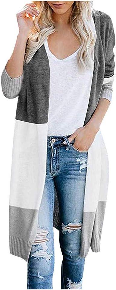 TWGONE Leopard Cardigan for Women Long Sleeve Casual Long Cardigan Open Front Top