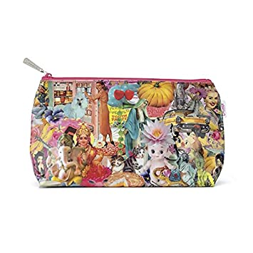 13b81d12f2f Amazon.com : Catseye Karma Kitsch Cosmetic Wash Bag, Pink : Beauty