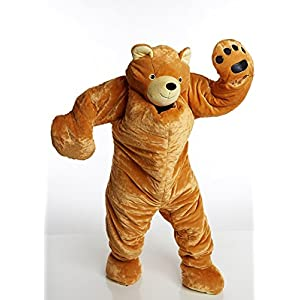 Snoozzoo Adult Brown Bear Sleeping Bag for Adults up to 75 inches Tall.