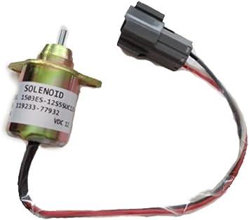 Yanmar Fuel Shutdown Diesel ShutOff Solenoid 11923377932 for John Deere Tractor