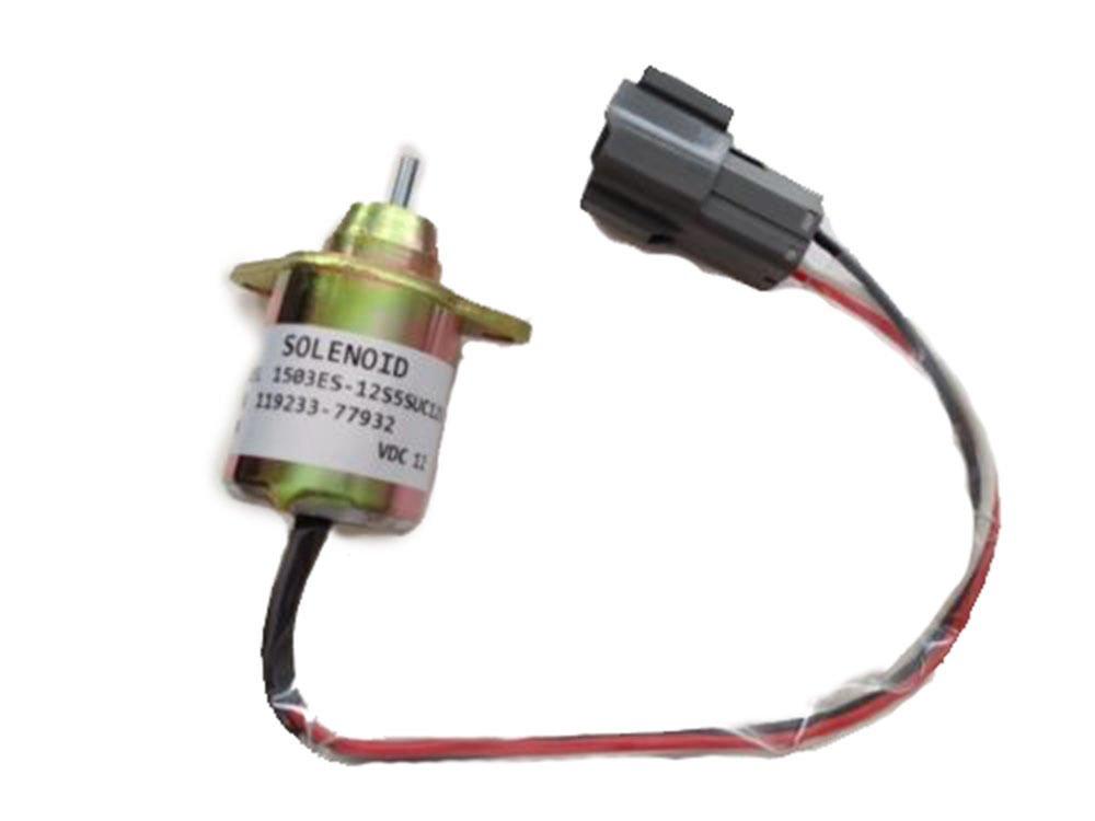 amazon com yanmar fuel shutdown diesel shut off solenoid 119233 rh amazon com Starter Solenoid Wiring Diagram 3 Pole Solenoid Wiring Diagrams