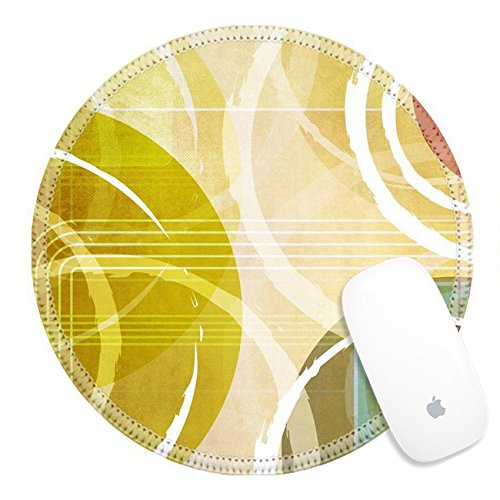 Border Big Bold (Luxlady Round Gaming Mousepad 22305797 Retro background circle design)
