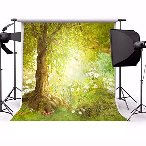Garden Scene Setter - Laeacco Vinyl 5X5FT Photography Background Fairy