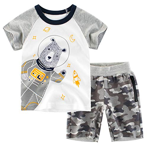 Frogwill Toddler Boys The Little Monster Truck Tee and Shorts Set 18M-7Y (5T, D3)