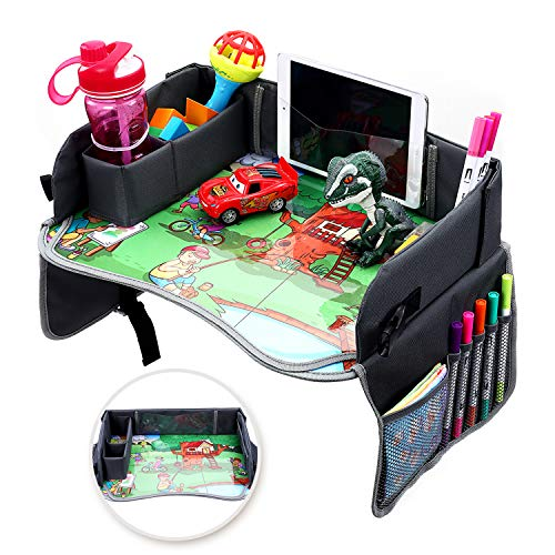 Lowest Price! Kids Travel Tray, Snack and Play Tray, Car Seat & Stroller Tray, Travel Tray for Airpl...