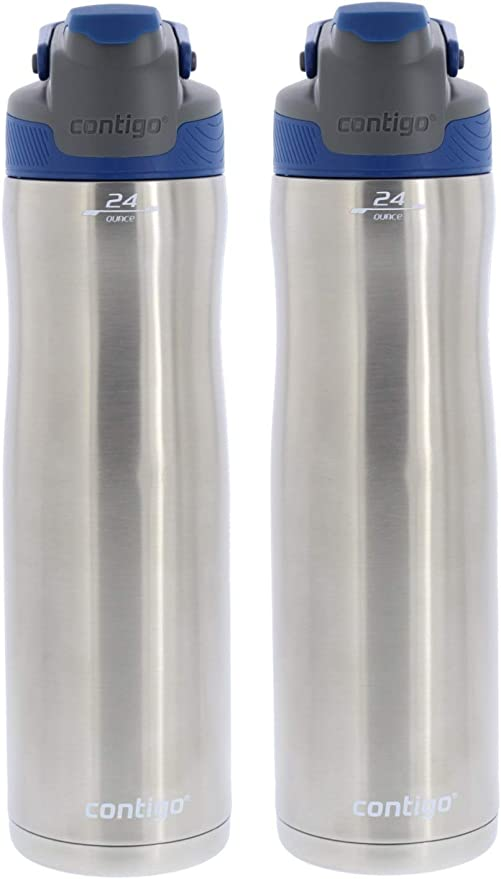 Contigo AUTOSEAL Chill Vacuum-Insulated Water Bottle 20oz Stainless Steel