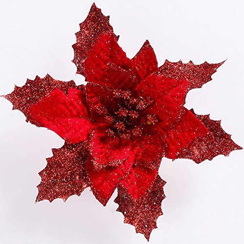 Alelife-Artificial-Christmas-Tree-Ornament-Christmas-Ornament-Bowknot-Festival-Supplies-Fake-Flower-Pendants-Red