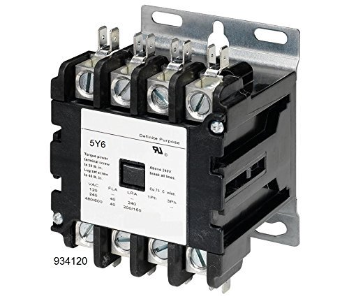 40 AMP DEFINITE PURPOSE CONTACTOR 4 Pole 120V Lighting Heating Refrigeration 30A UL