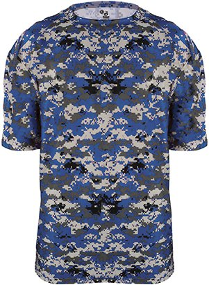 Badger Adult B-Core Digital Camo Tee 4180 -Royal Digita S