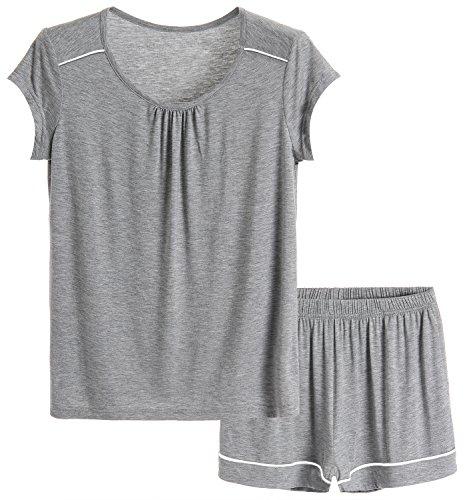 Latuza Women's Short Pajama Set L LightGray