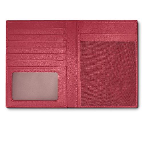 RFID Blocking Leather Passport Holder For Men and Women - Pink