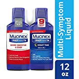 Congestion, Cough, Cold and Flu, Mucinex Fast-Max Day/Night Time Relief Liquid 12oz (2x6oz) Relives Headache & Fever, Controls Cough, Relieves Nasal & Chest Congestion, Thins & Loosens Mucus