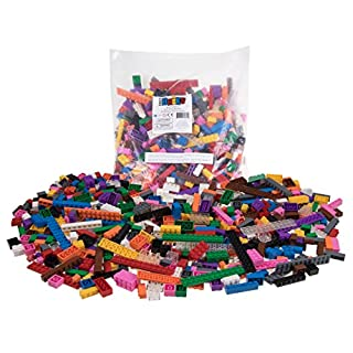 Strictly Briks 672 Piece Classic Bricks Building Brick Set | 100% Compatible with All Major Brick Brands | Premium Tight Fit Building Bricks in 12 Vibrant Colors | 9 Different Shapes and Sizes