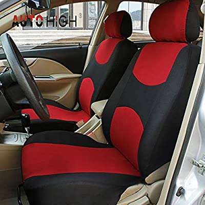 Breathable Mesh Cloth Automotive Front and Back Seat Protect Covers Beige /& Black Fits Most Car Truck Van SUV AUTO HIGH Car Seat Covers Full Set