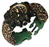 8½ inches Camo Green Survival Bracelet Watch
