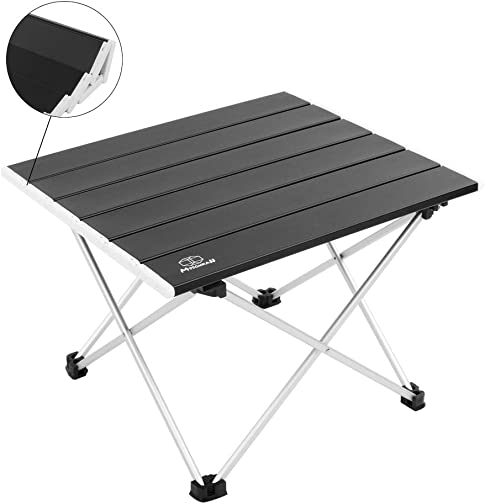 MSSOHKAN Ultralight Camping Portable Aluminum Folding Table,Mini Car Table