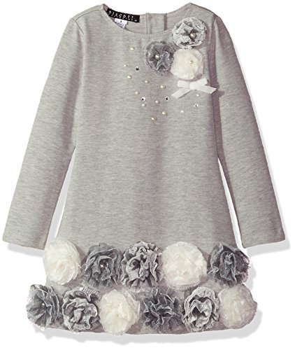 Biscotti Big Girls Delovely Knit Dress With Flower