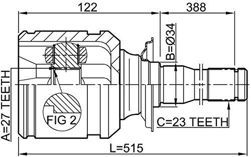 Inner CV Joint Right 27X34X23 For Toyota 4303042021