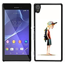Planetar® ( Boy Skateboard Hat Painting Art Sport ) Sony Xperia T3 Hard Printing Protective Cover Protector Sleeve Shell Case Cover