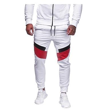 FRAUIT Pantalones para Hombre Chándal de Hombres Casual Slim ...