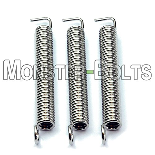 - 3 pack - Premium Guitar Tremolo Springs For Floyd Rose & Fender Stratocaster - MonsterBolts (3)