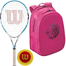 fan products of Wilson Serena Williams Girl's Pre-Strung Tennis Racquet with Starter Tennis Balls and a Junior Tennis Bag (Perfect for Kids Ages 3-10)