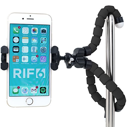 RIF6-Flexible-Tripod-for-iPhone-Digital-Camera-Webcam-Lightweight-Mini-and-Portable-with-Mobile-Ball-Head-and-Universal-Octopus-Mount