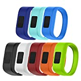 ANCOOL for Garmin Vivofit JR Bands Replacement Silicone Bands for Garmin Vivofit JR(Replacement Bands ONLY)-Small 8PCS Set